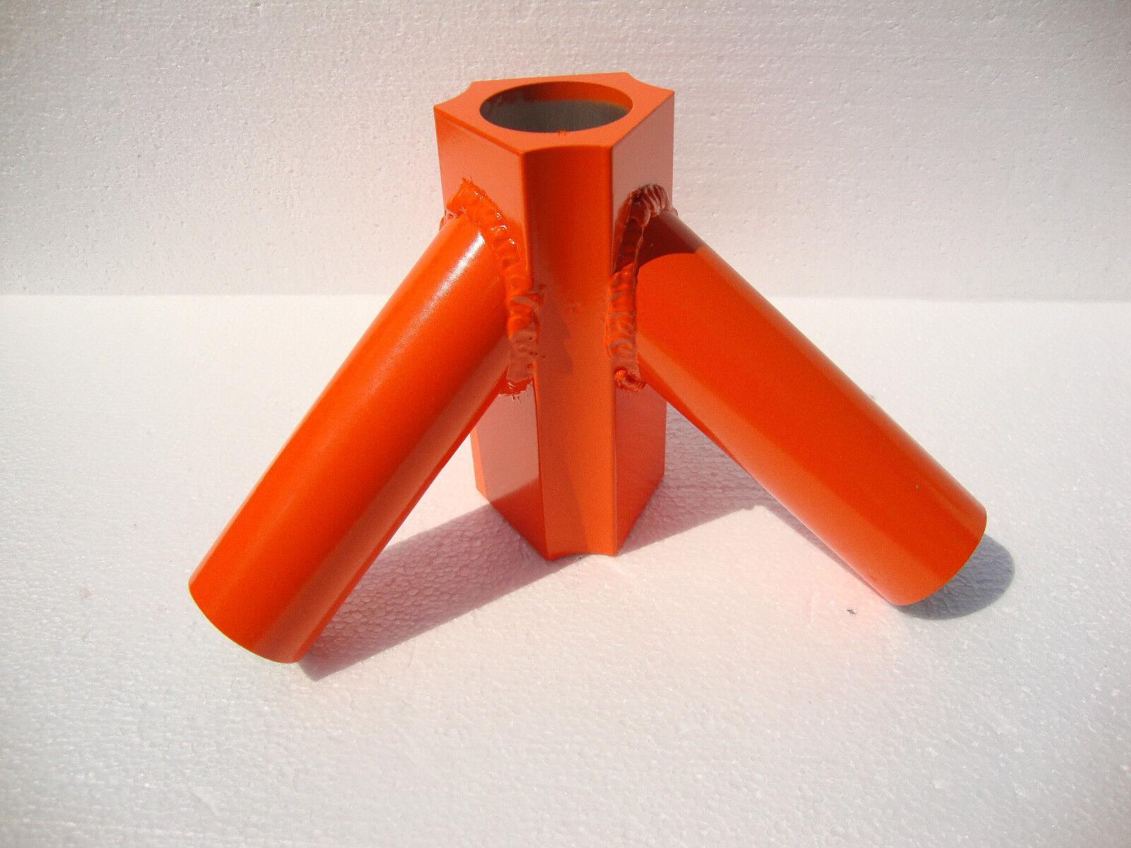 Antenna Radio Tower Aluminum Orange Tripod For Use With Military 48 Mast Pole