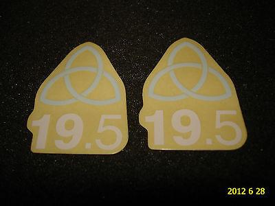 2 Authentic Small United Trinity Bmx Bike Frame Stickers / Decals 14 Aufkleber