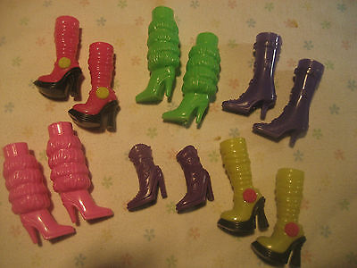 Lot of mixed shoes / boots for  Barbie doll  6  pairs  ( 12 single boots)new1 on Rummage