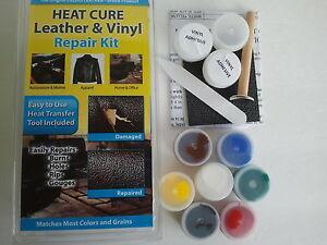 heat cure leather amp vinyl repair kit fixes auto seats sofas floors ebay. Black Bedroom Furniture Sets. Home Design Ideas
