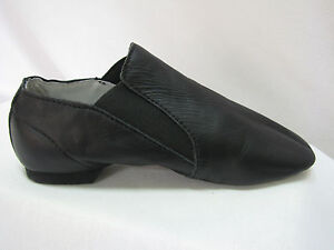 Split-Sole-Pull-On-Bootie-Jazz-Shoes-Black-Leather-Size-Range-Unisex-New