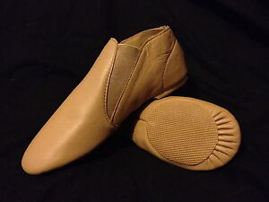 #SALE#  Brand New TAN Leather Jazz Dance Shoes: Child Size 13.5