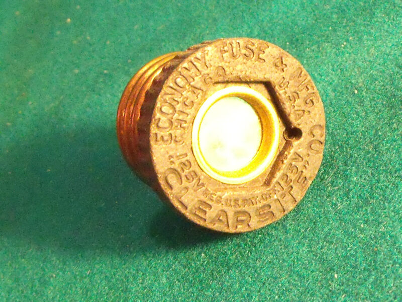 ''CLEARSITE''ECONOMY FUSE&MFG.CO CHICAGO USA PATD FEB 27 1917 BAKELITE sTeAmPuNk