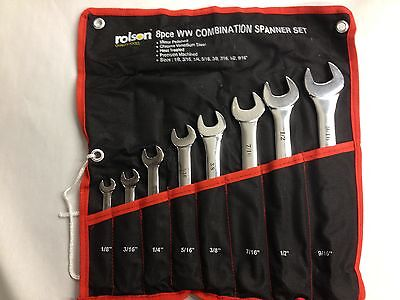 Royal Enfield Wrench Set 8 Piece Whitworth