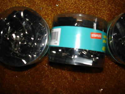 Staples Small Binder Clips 34 Inches Wide Lot Of 2 40 Per Pkg