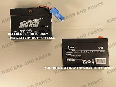 Kid Trax Avigo Mercedes 12 Volt 12 Ah Rechargeable +bare+ Replacement Battery