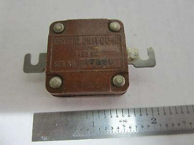 Vintage Radio Quartz Crystal Dc-10 Frequency 4495 Kc Sickles Signal Corps