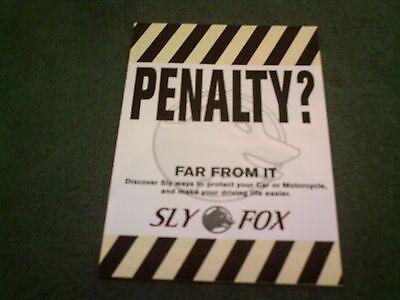 1998 SLY FOX RADAR LASER SPEED TRAP DETECTOR & SCRABLER UK RANGE FOLDER BROCHURE