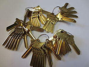 Key Blanks for Locksmith / 50 Schlage SC1  / Brass / Made by Ilco