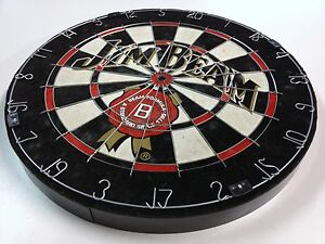 JIM BEAM BOURBON COLLECTORS Sisal Dart Board + 3 Darts Christmas Present Gift