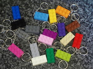 Lego-Brick-2x4-Key-Ring-Key-Chain-Choose-Your-Keyrings-Colour