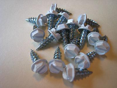 Sheet Metal Zip Screw  8 X 1 2  Lg Hex Washer Hd  White Head 1000 Pcs  13 50