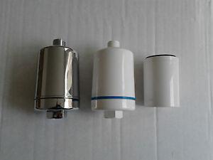 multi listing inline shower water filter ebay. Black Bedroom Furniture Sets. Home Design Ideas