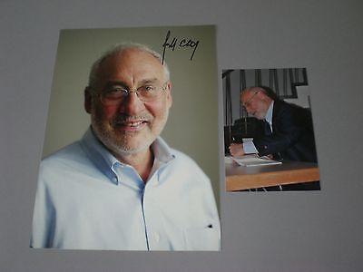 Joseph Stiglitz Nobelpreis signed signiert autograph Autogramm auf 20x28 Foto