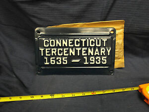 Connecticut Tercentenary 1635 - 1935 CT Conn License plate NOS Issued by DMV
