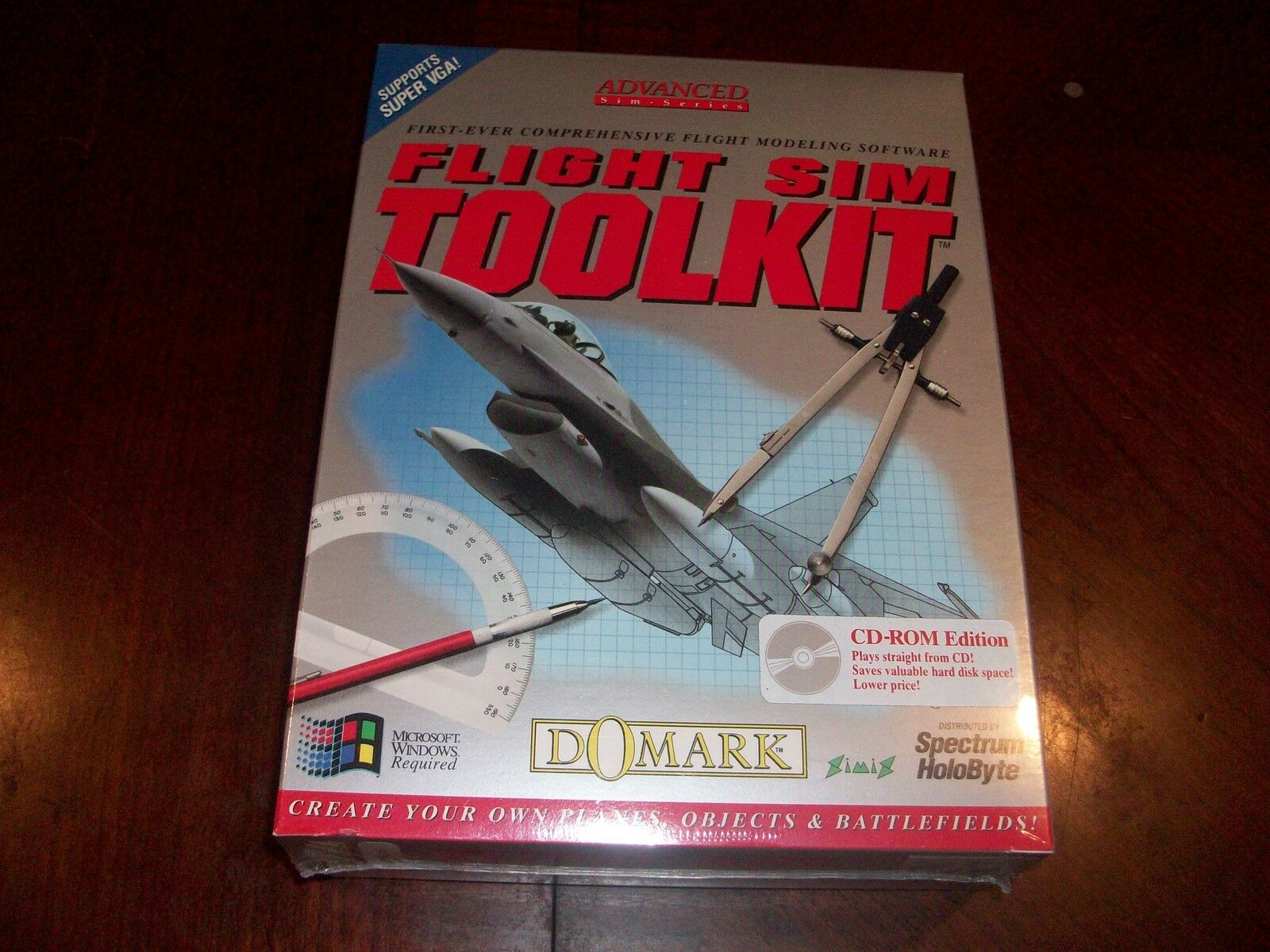 Flight Sim Toolkit (pc Game Cd-rom Edition) Flight Modeling Software Holobyte