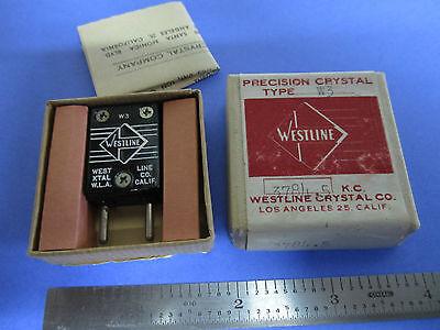 Vintage Ft-243 Quartz Radio Crystal Westline Los Angeles Frequency 3784.5 Kc New