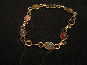 Vintage Scarab Gold Filled Bracelet 7