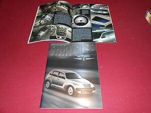 2001 CHRYSLER PT CRUISER, BIG 48 p. PRESTIGE BROCHURE, SALES CATALOG