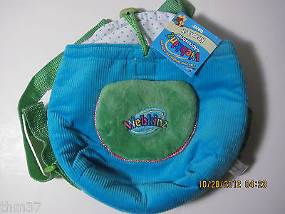 WEBKINZ PLUSH CARRIER KNAPSACK - BLUE & GREEN - NEW WITH CODE AND TAGS Toys