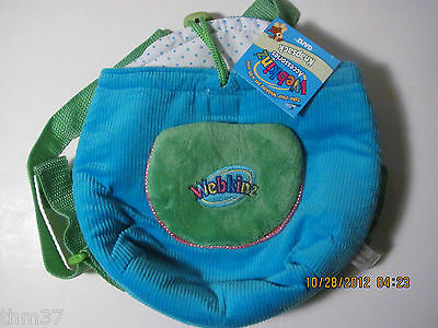 WEBKINZ PLUSH CARRIER KNAPSACK - BLUE & GREEN - NEW WITH CODE AND TAGS
