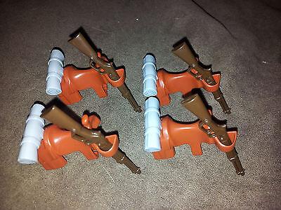 4 x Kavalleriesattel / Sattel / Spezialsattel mit Decke grau