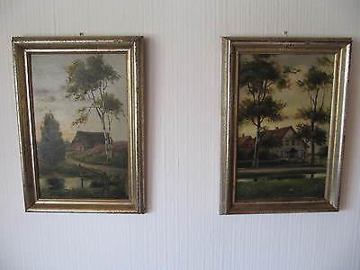 2 Gemälde von Georg Wilking 1912