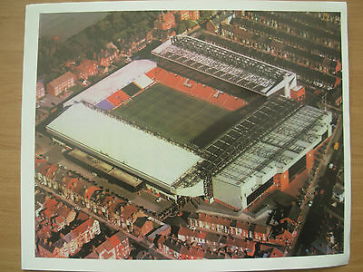 AERIAL PHOTOGRAPH OF ANFIELD LIVERPOOL FC FOOTBALL STADIUM GROUND 10in x 8in