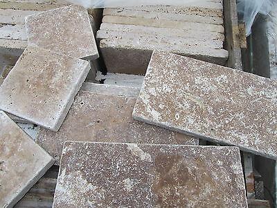 1 Palette Travertin, dunkel Natursteinplatte Sonderposten