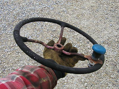 Farmall Cub Lo Boy Tractor Ih Steering Wheel With Knuckler Spinner