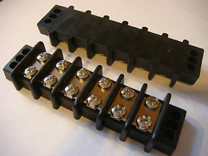 MARINE-RV-ELECTRICAL-BUS-BAR-6-GANG-new-Terminal-Bar-Brand-NEW-4-1-2-Free-sh