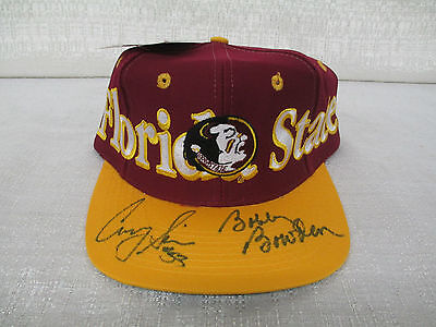 Corey Simon & Bobby Bowden Signed Florida State Seminoles Cap Hat JSA G92869