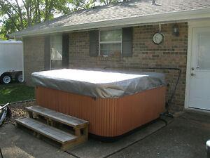 Hot tub cover cap sun shield 93 x 93 cal spa 94 x 94 - American home shield swimming pool coverage ...