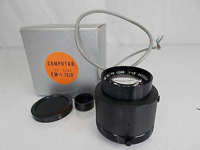 Computar Em -17518 Ai Tv Lens 1:1.8 F=75mm Japan