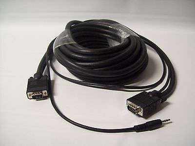 Cables To Go 35' Hd15+3 5mm Uxga Monitor Cable 52134