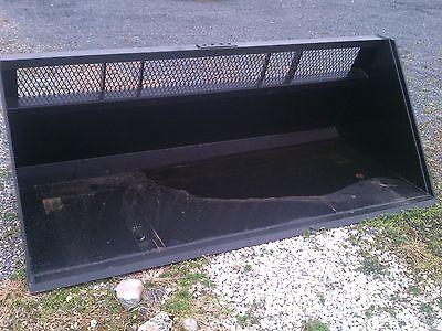 New 8-96 Skid Steer Loader High Capacity Window Snow Bucketlittermulch Case