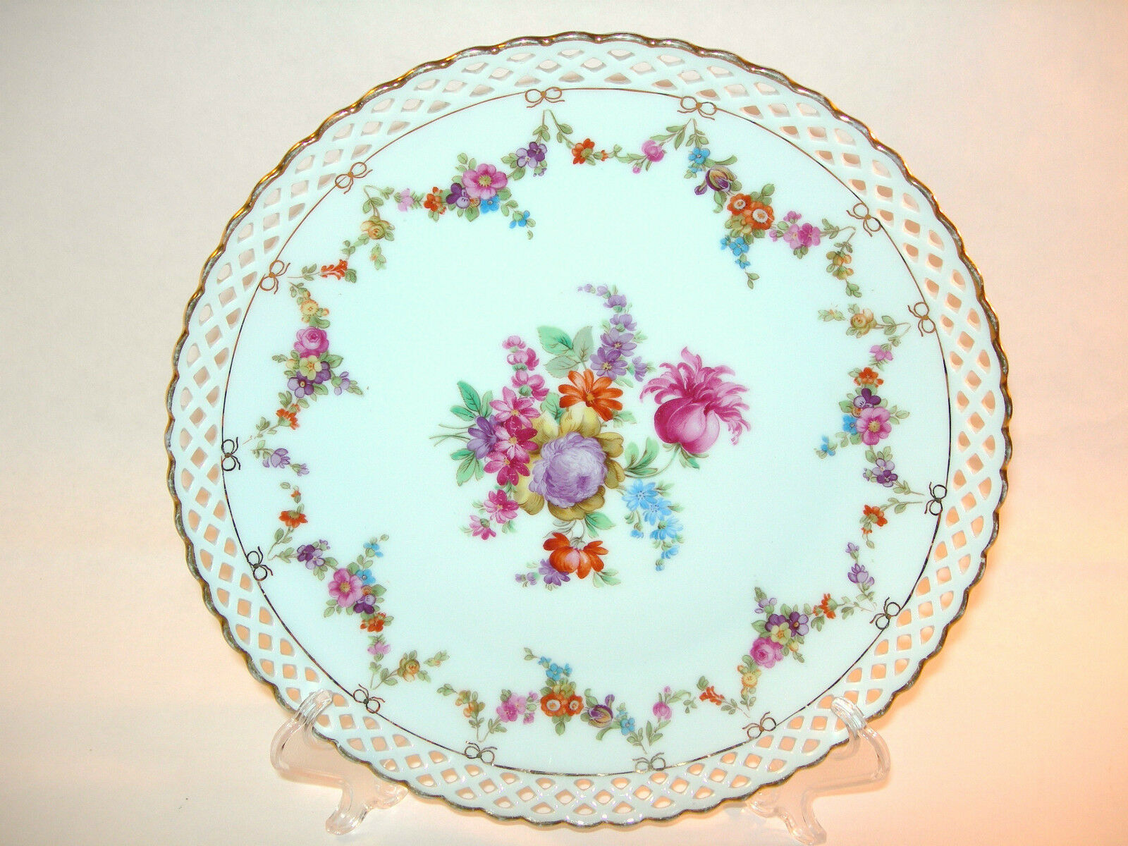 Beautiful schumann bavaria reticulated porcelain dresden Beautiful plates