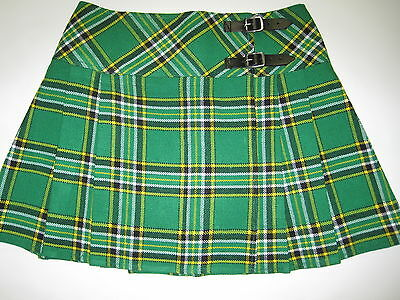 Irish Heritage Tartan Scottish Billie Skirt Waist Sizes 26 - 40