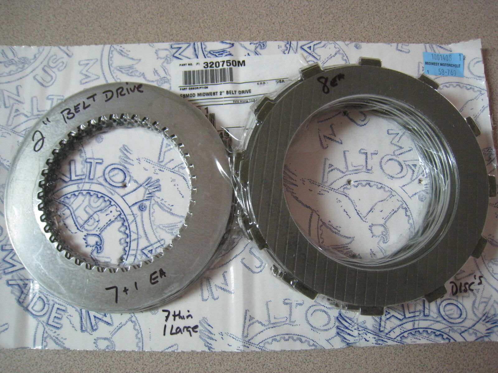 Ultima Primary Belt Drive 2 Clutch Pack Usa Made Alto 58-769