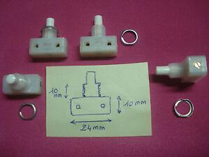 interrupteur poussoir crou acier bornes vis lampe de chevet etc ebay. Black Bedroom Furniture Sets. Home Design Ideas