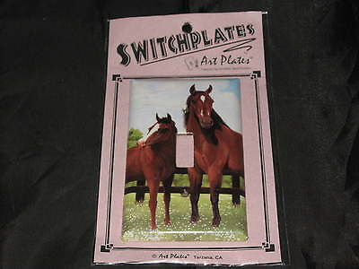 Art Switchplates Horse Brown Single Toggle Electricity Hand Crafted Ranch