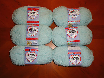 Red Heart Moon & Stars Yarn Lot Of 6 Skeins (Mint Jelly #3668) on Rummage