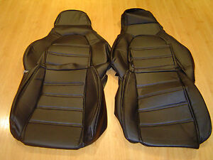 MAZDA 89-97 MX5 ,EUNOS  NEW BLACK SYNTHETIC LEATHER CUSTOM MADE SEAT COVERS