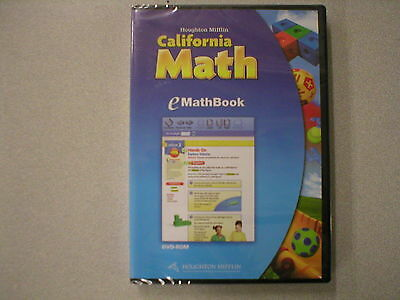 Houghton Mifflin California Math Kindergarten Emathbook Dvd 0547141726