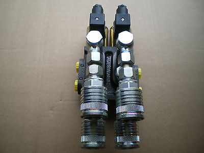 Hydraulikventil Doppelweiche 8/3 Holzgreifer Hydraulische Gerätebetätigung