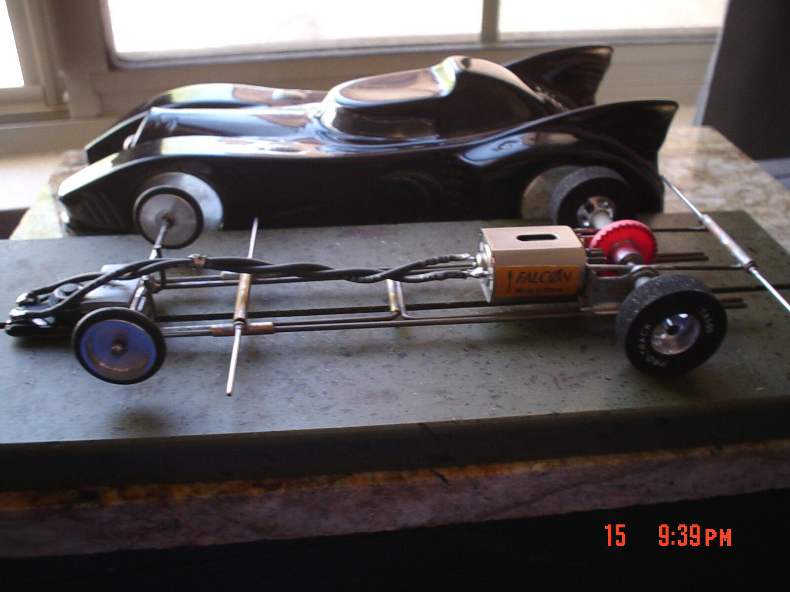 Slot Cars 1/24 SLOT CAR Drag  Batmobile (new style)  NO BAR 10-16-13 A-28