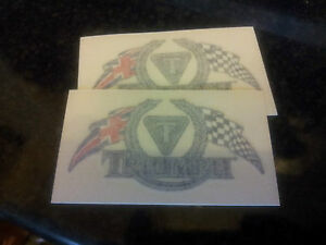 TRIUMPH THUNDERBIRD CHEQUERED FLAG'S STICKERS,