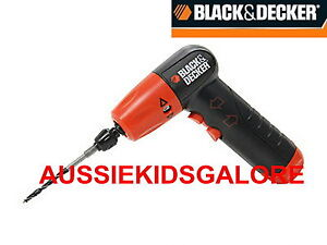 AUSSIEKIDSGALORE New BLACK & DECKER - 1/4 Inch Hex Cordless Drill / Driver KIT
