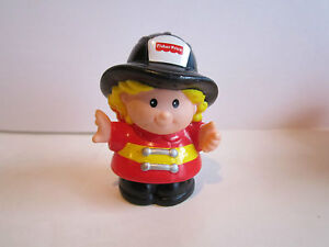 Fisher-Price-Little-People-firefighter-cheryl-rescue-girl-blonde-figure-fireman