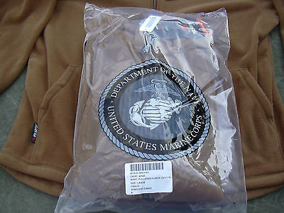 Usmc Polartec 100 Fleece Pullover Jacket Coyote Brown Large (new In Package)